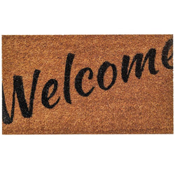 Ninamar Door Mat Welcome Natural Coir - 29.5 x 17.5 inch - Foot Matters