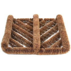 Ninamar Natural Coir Boot Scrubber Door Mat - 30 cm x 33 cm - Foot Matters