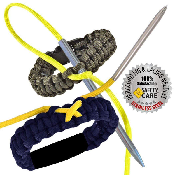 SafetyCare Stainless Steel ParaCord /& Leather Stitching Fid Needles Combo Pack