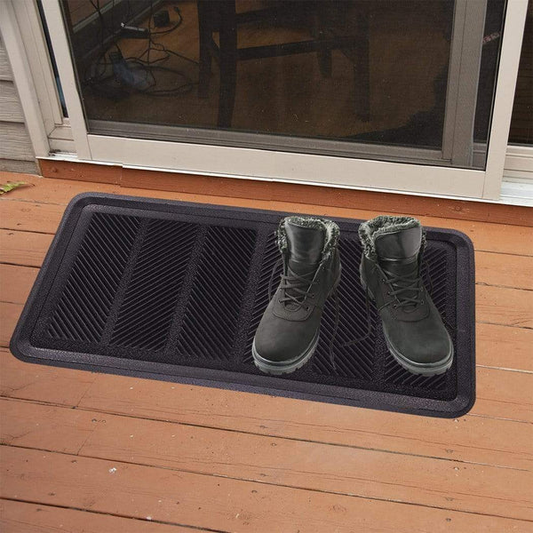 SafetyCare Rubber Shoe & Boot Tray - Multi-Purpose - 32 x 16 Inches - Foot Matters