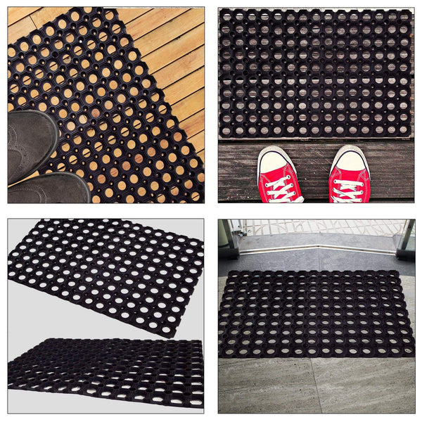 SafetyCare Interlocking Rubber Drainage Floor Mat - Anti-Fatigue - 24 x 16 Inches - Foot Matters