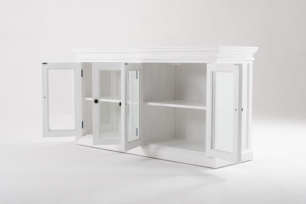 Halifax Glass Display Buffet with 4 Doors
