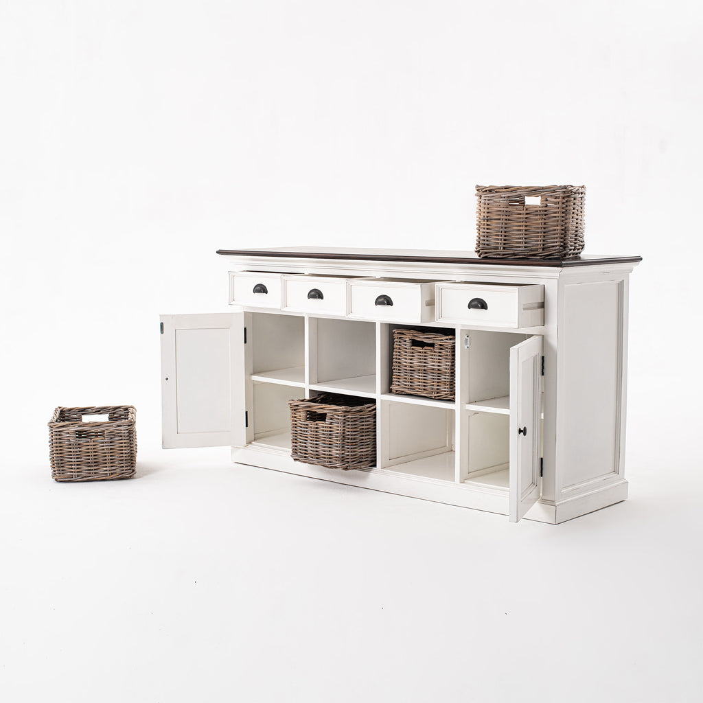 Halifax Accent Buffet with 4 Baskets Set