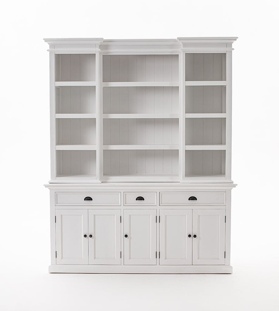 Halifax Kitchen Hutch Cabinet with 5 Doors 3 Drawers