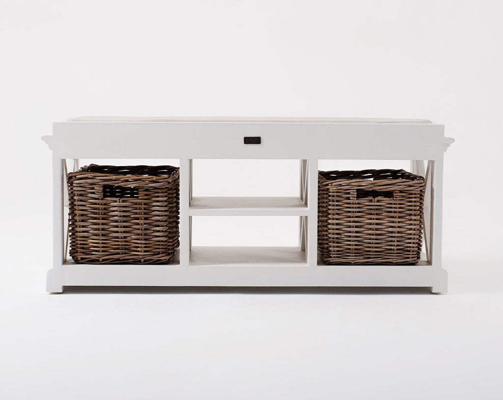 Halifax Bench & Basket Set