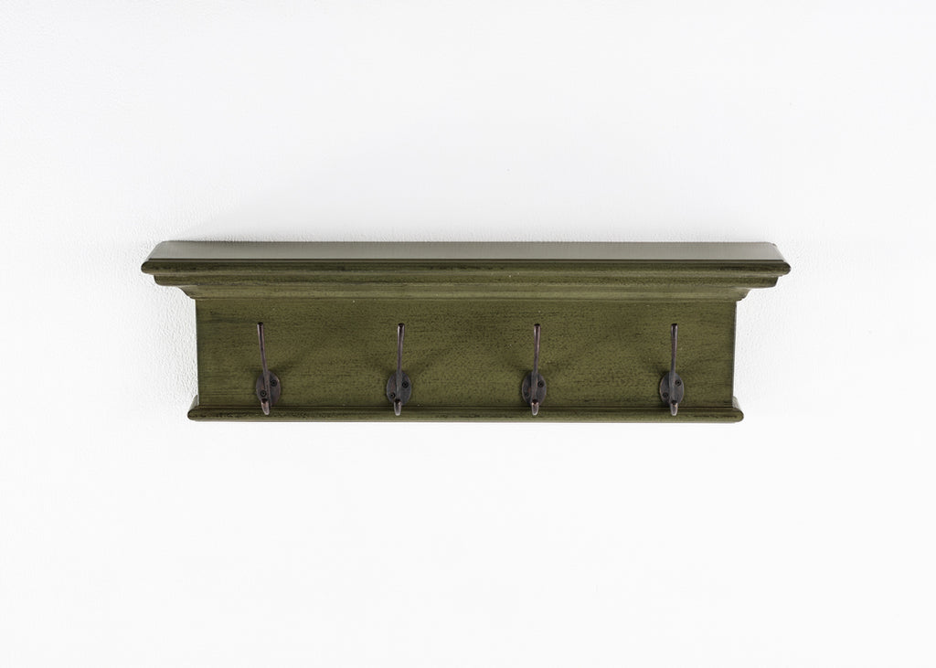 Halifax Coat Rack - Green Black Antique