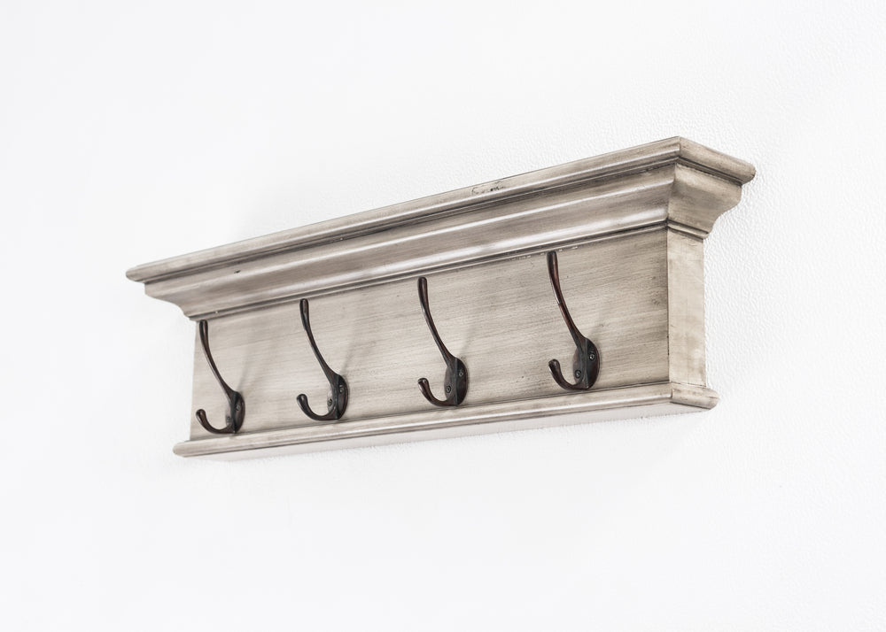 Halifax Coat Rack - White Rustic