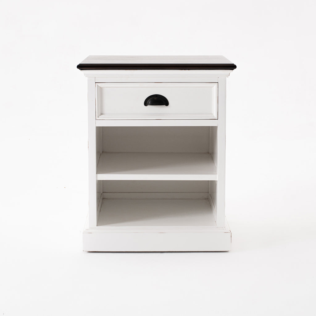 Halifax Accent Bedside Table with Shelves