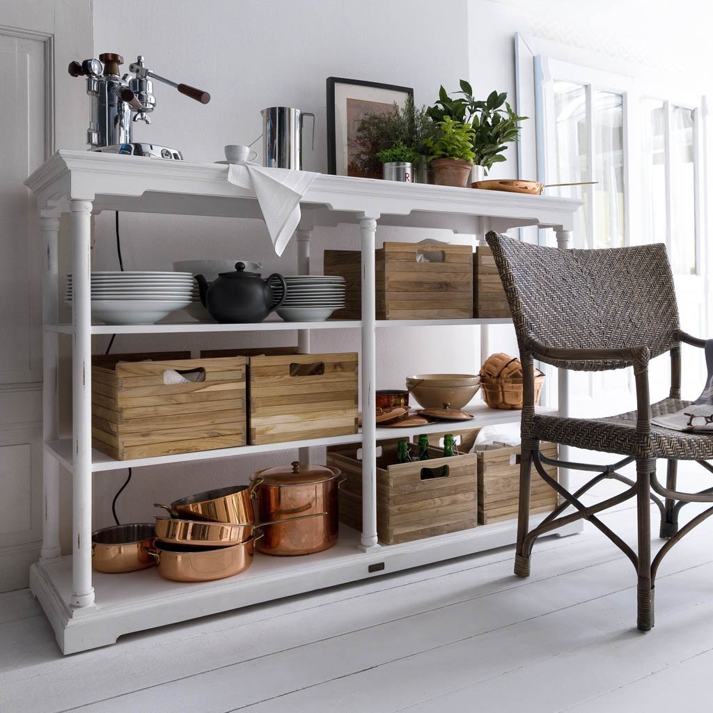 Bordeaux Large Open Shelving Unit-Open Shelving Unit-Hygge Home US