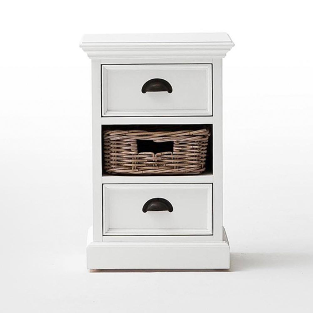 Halifax Bedside Table with Basket-Bedside Table-Hygge Home US