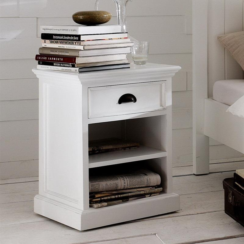 Halifax Bedside Table with Shelves-Bedside Table-Hygge Home US