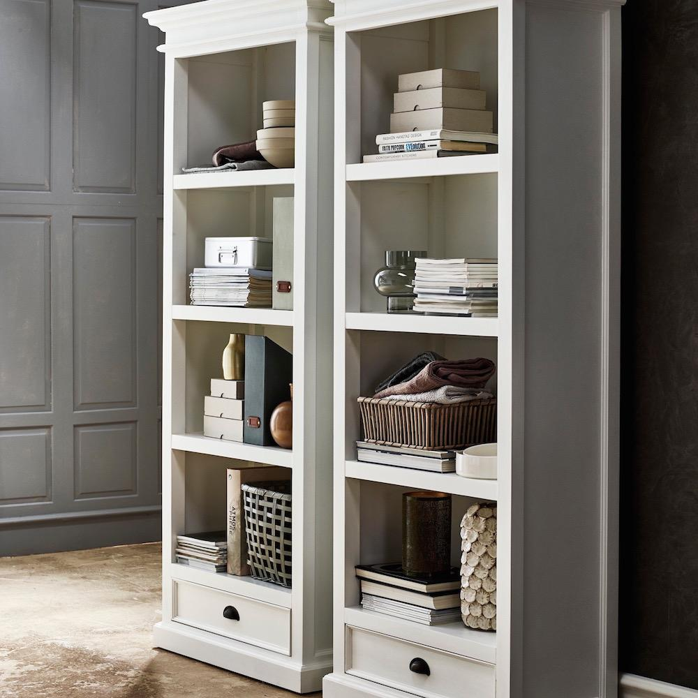 Halifax Bookcase with Drawer-Bookcase-Hygge Home US