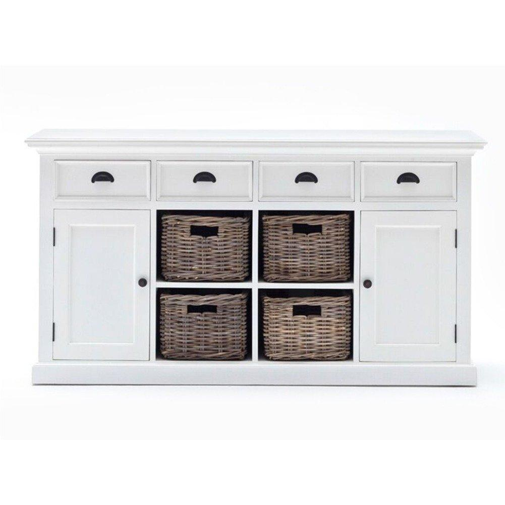 Halifax Buffet with 4 Baskets-Buffet-Hygge Home US
