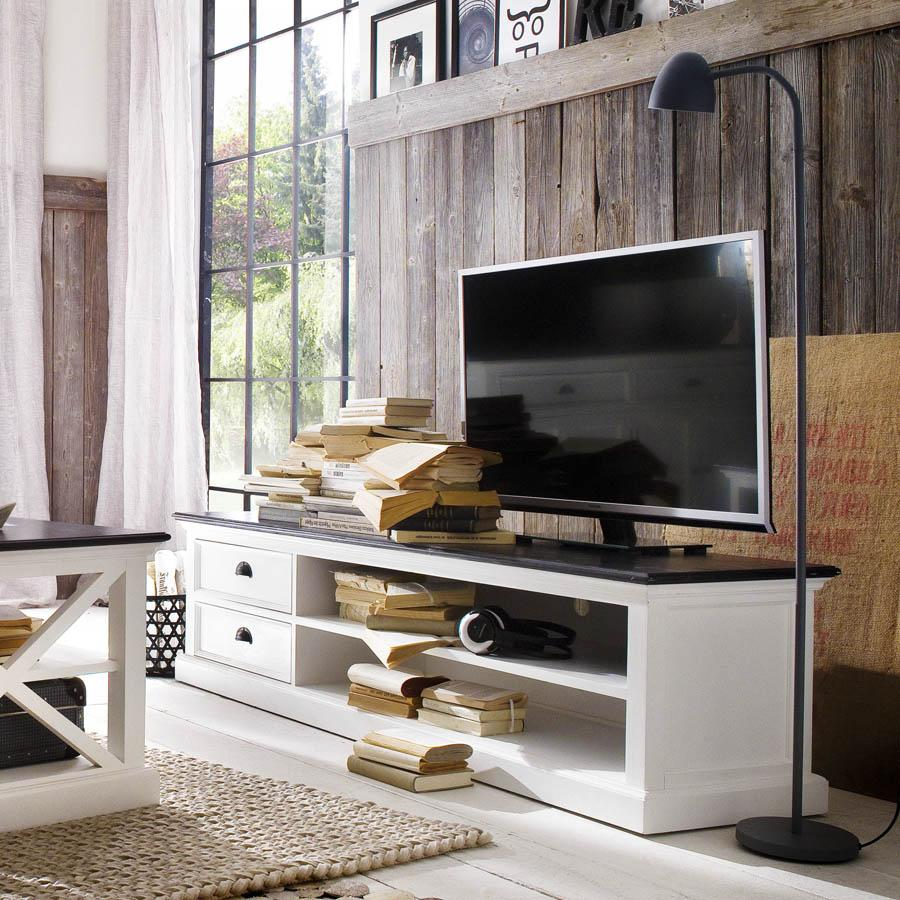 Halifax Contrast TV Stand with 2 Drawers-TV Stand-Hygge Home US