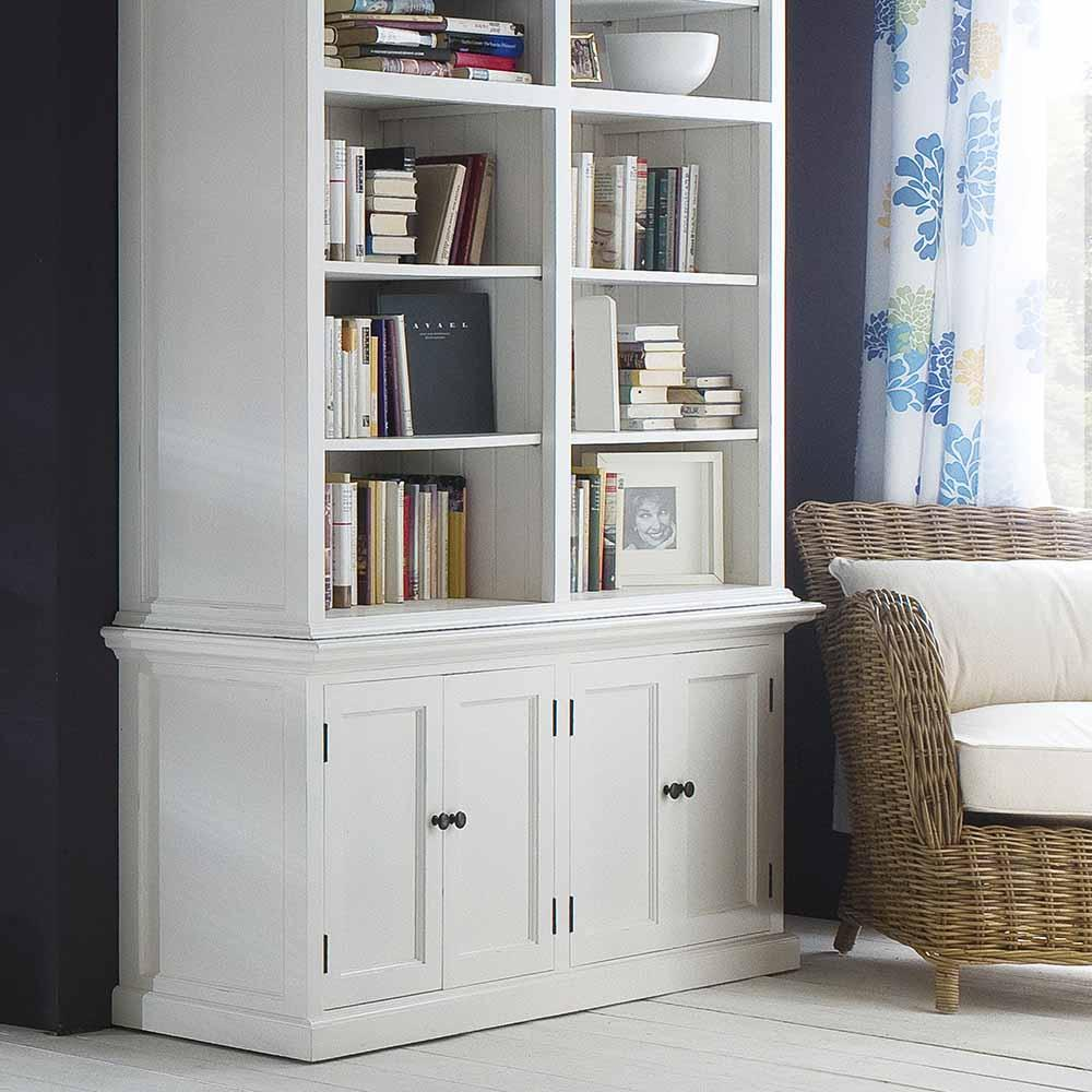 Halifax Double-Bay Hutch Cabinet-Hutch Cabinet-Hygge Home US