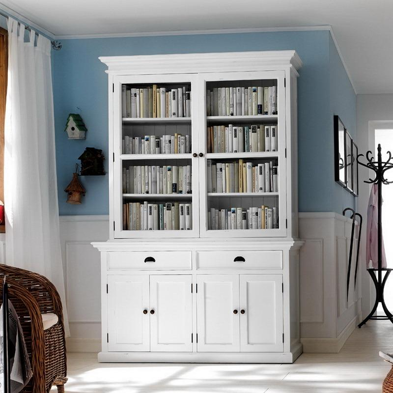 Halifax Glass Display Hutch Cabinet-Hutch Cabinet-Hygge Home US
