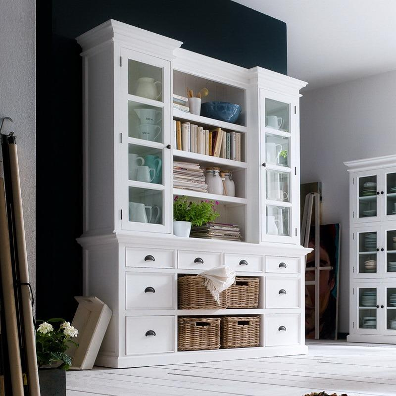 Halifax Library Hutch Cabinet-Hutch Cabinet-Hygge Home US
