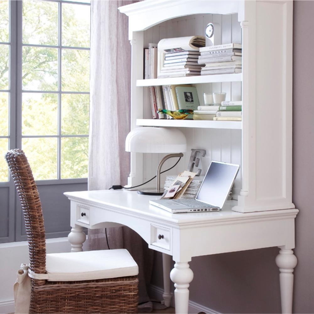 Provence Secretary Desk with Hutch-Desk-Hygge Home US