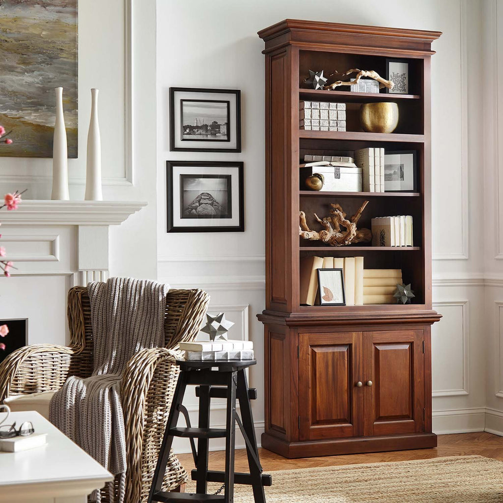 Toscana Single-Bay Hutch Cabinet-Hutch Cabinet-Hygge Home US
