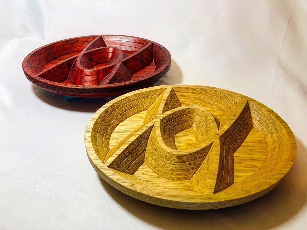 "Keepsake ""Iroko"" Wood Tray"