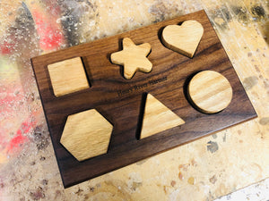 """Place Me"" Wooden Shape Puzzle"