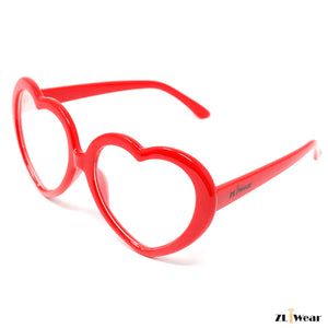 ZLiWear Ultimate Diffraction Glasses - Red Heart Frame