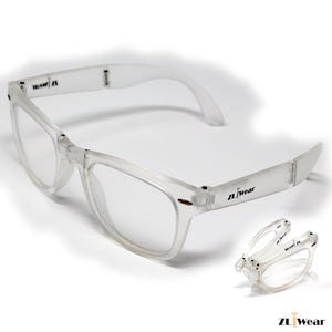 ZLiWear Spiral Effect Diffraction Glasses -  Folding Clear Mate