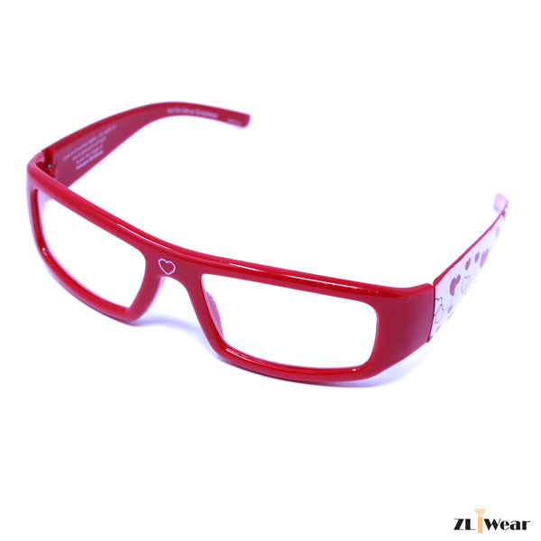 ZLiWear Heart Effect Diffraction Glasses - Red Love