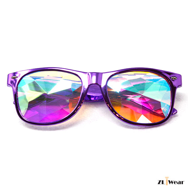 ZLiWear Metallic Purple  Kaleidoscope Glasses