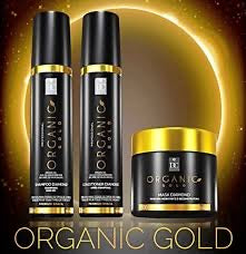 Pack complet Organic gold shampoing + conditionner + masque