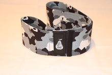 Load image into Gallery viewer, Fit With Curves Black, White, and Gray Camouflage Large Light Resistance Band 16 inches