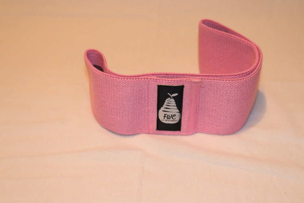 Fit With Curves Pink Mini Loop Wide Band Medium Resistance 14 inches
