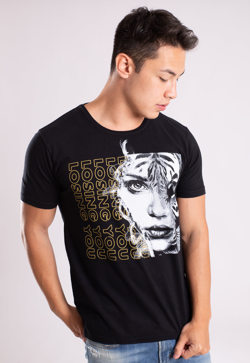 CAMISETA MASCULINA BOSSA BRASIL ESTAMPADA - LOSING YOU