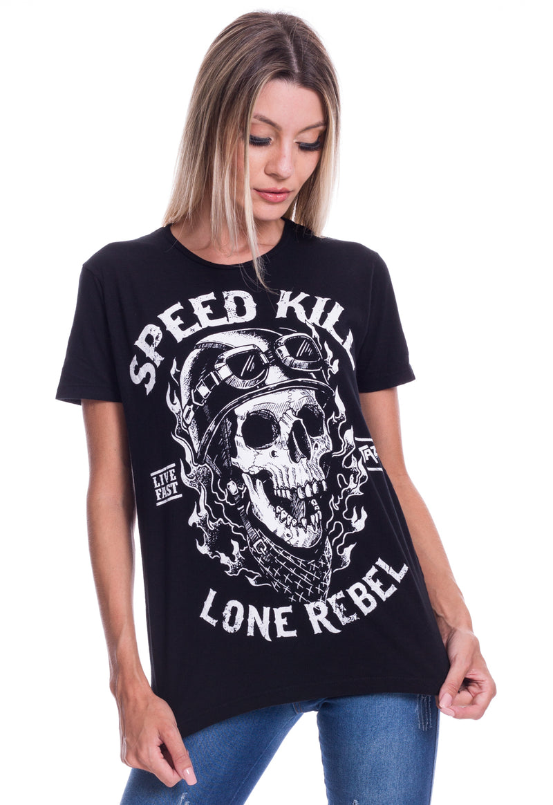 CAMISETA FEMININA JAZZ BRASIL - SPEED KILL