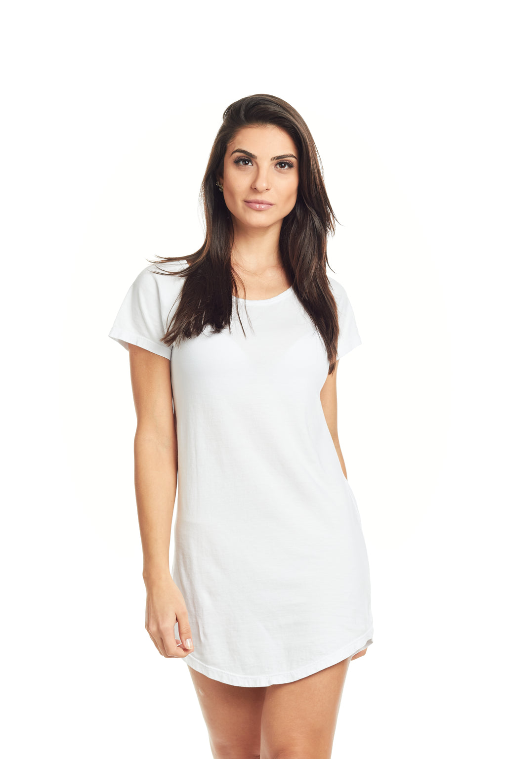 CAMISETA FEMININA LONG ESTAMPADA - BOSSA COSTAS