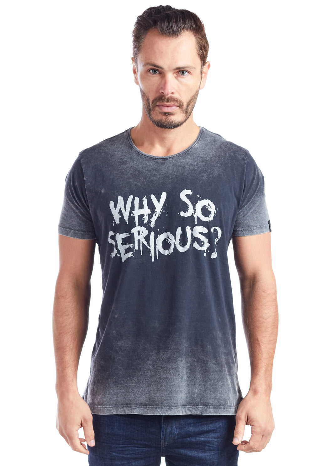 CAMISETA MASCULINA ESTAMPADA - WHY SO SERIOUS?