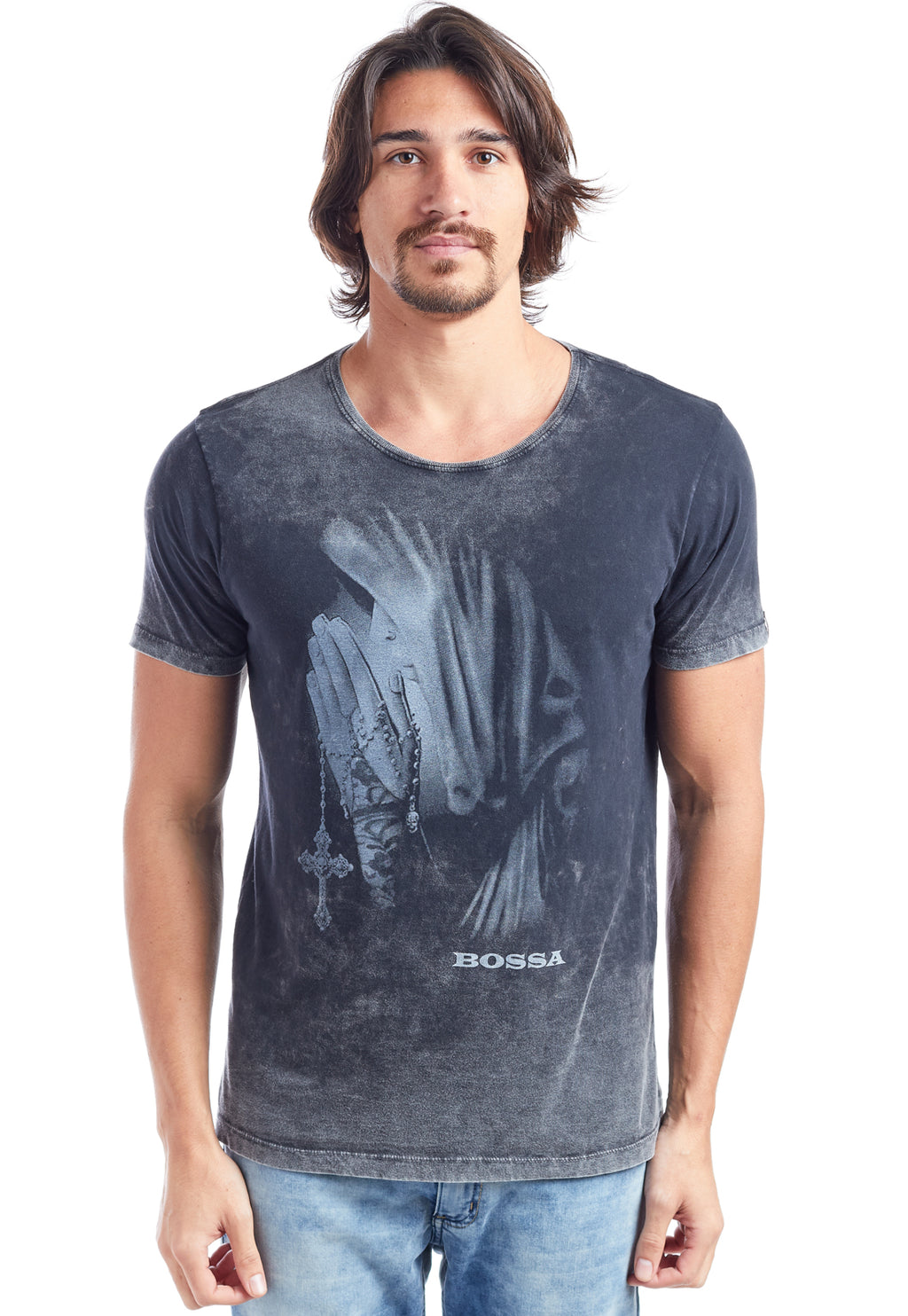 CAMISETA MASCULINA ESTAMPADA - PRAY
