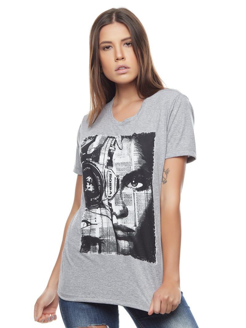 CAMISETA FEMININA BOSSA BRASIL - PHOTO FACE