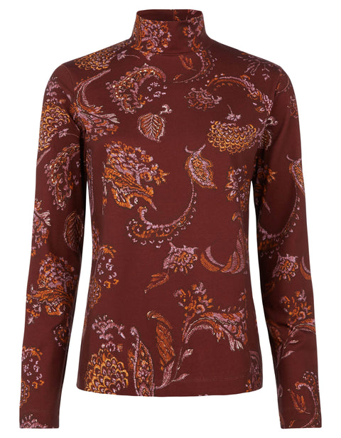 Torstine Rollkragenreef paisley rosewood-Oilily-S-Oilily.com