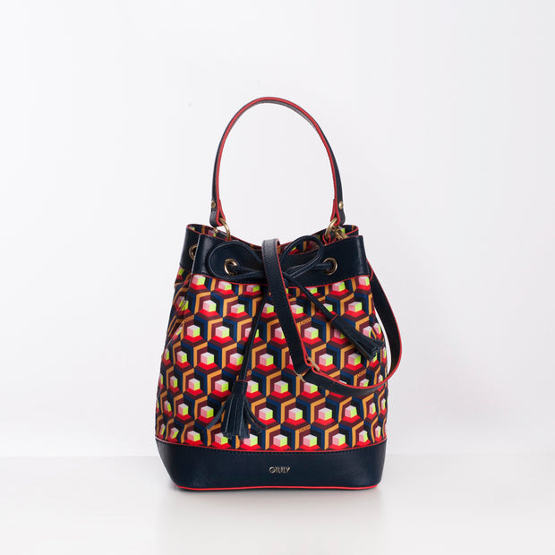 Bucket-Tasche Geo Diamonds