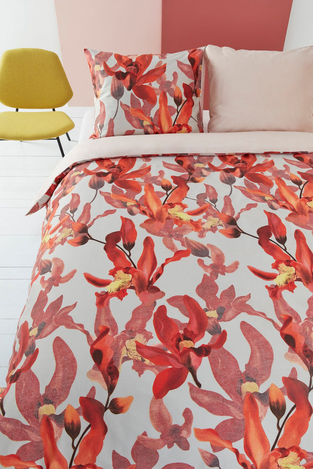 Orchid Haze Duvet Cover - Rood