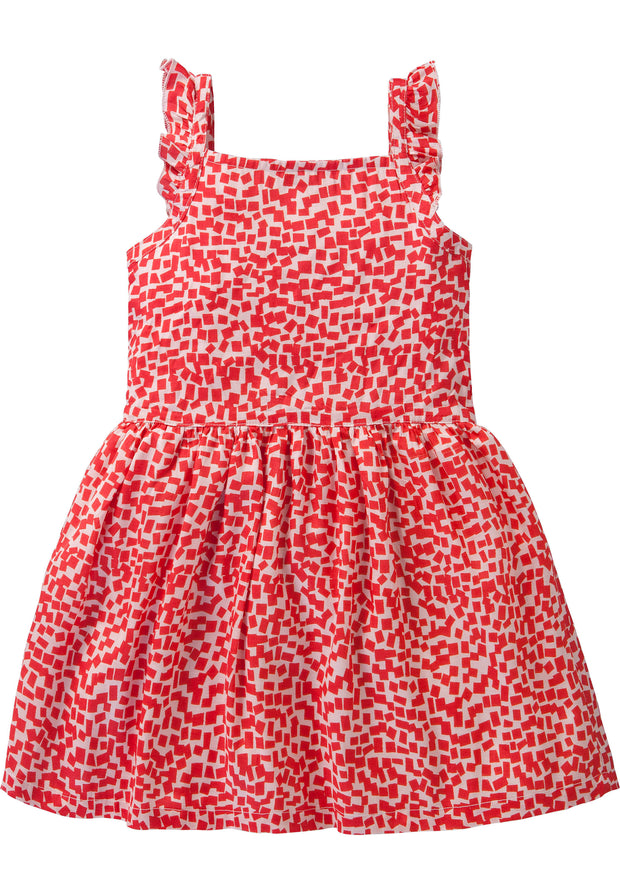 Rotes Kleid mit Blockprint-Room Seven-86-Oilily.com