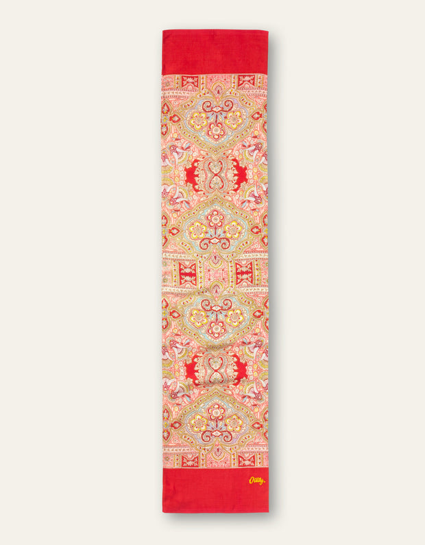 Aorient Paisley Red