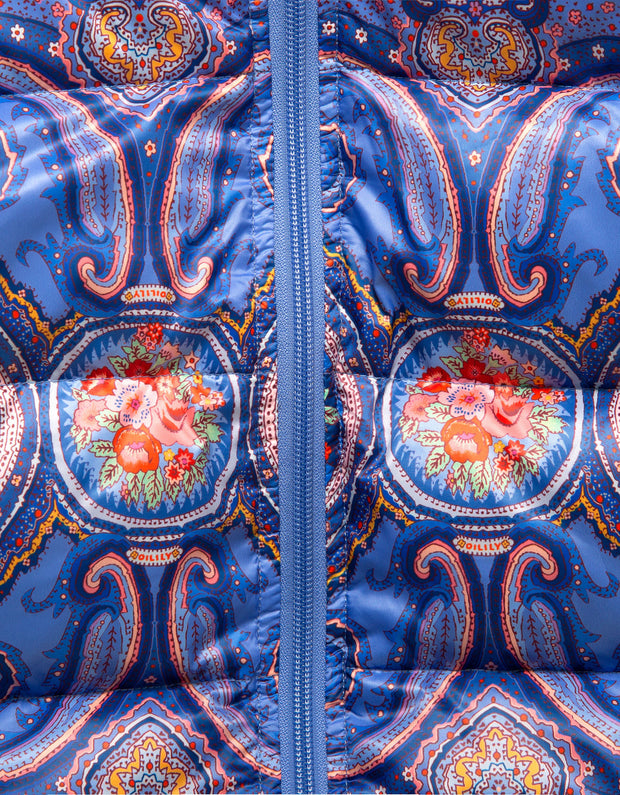 Cheddar Daunenjacke Paisley Orient blue-Oilily-104-Oilily.com
