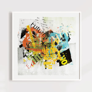 Colorful Abstract Typography Art for Home or Office