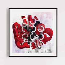 Load image into Gallery viewer, Abstract Typography Art for home or office