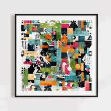 Load image into Gallery viewer, Colorful Abstract Geometric Art