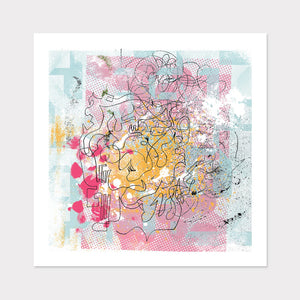 Pink Abstract Art for Your Home or Office