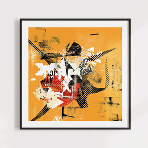 Yellow Contemporary Art for Home or Office