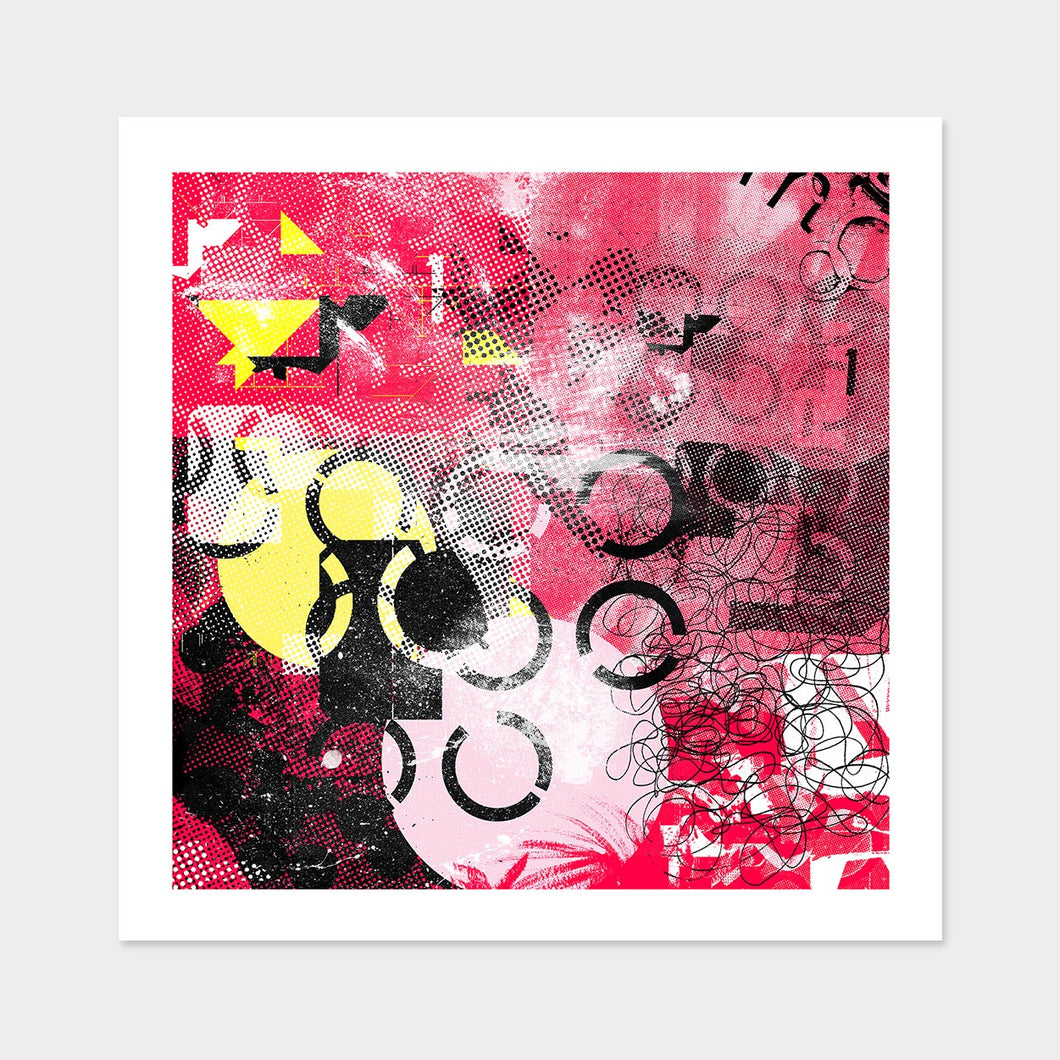 Pink Sunset Contemporary Art for Home or Office
